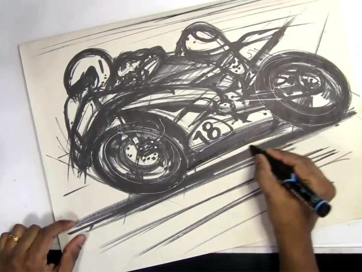 720x540 Sketching Motorcycles With Markers