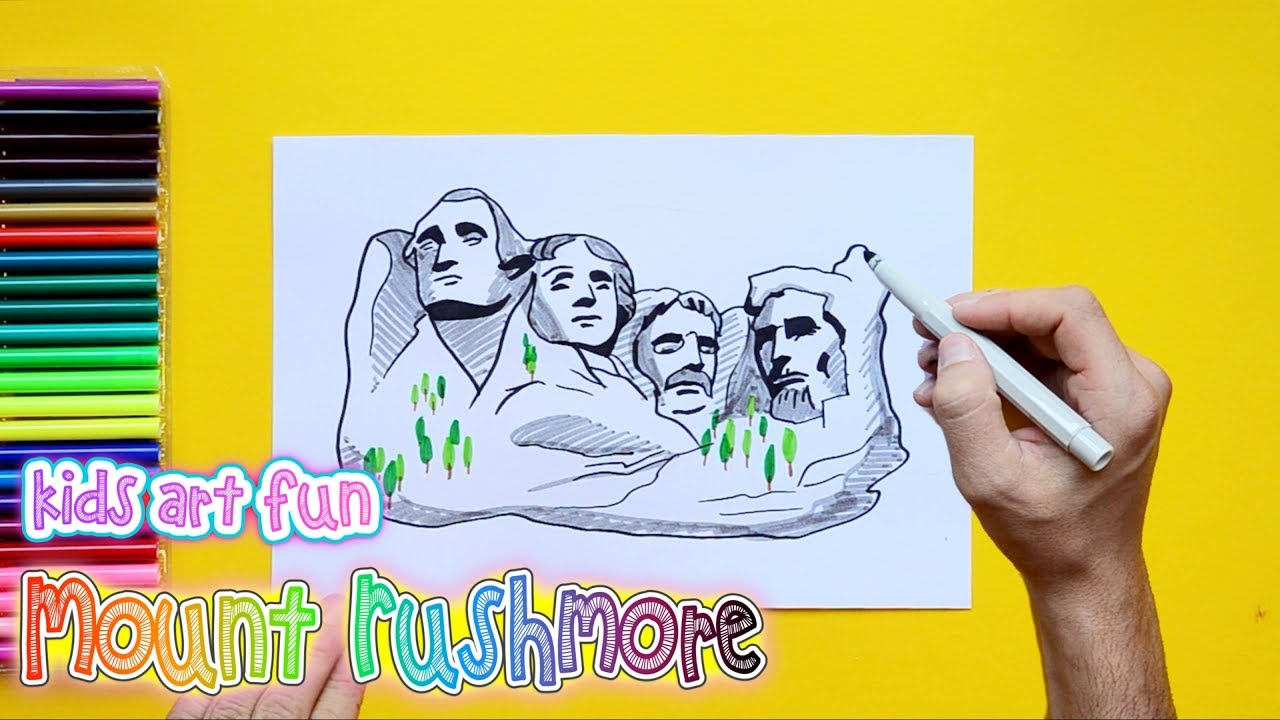 1280x720 How To Draw And Color Mount Rushmore, South Dakota, Usa