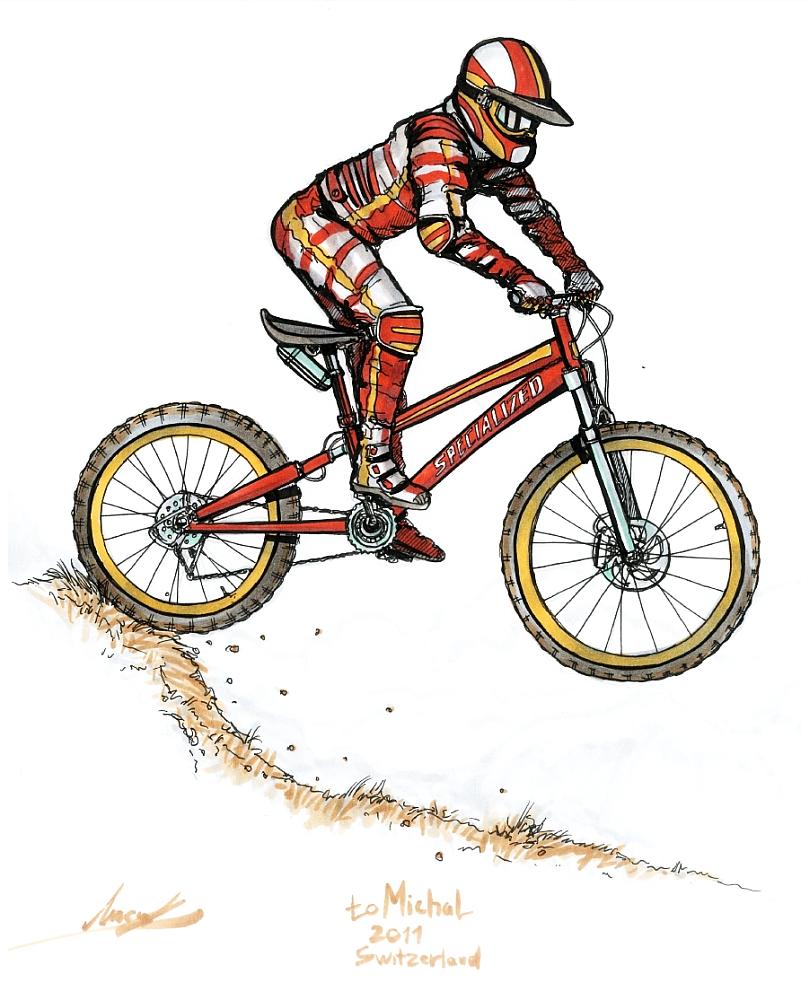 810x1000 Mountain Bike By Maxim Lysak Charcoal Sketches