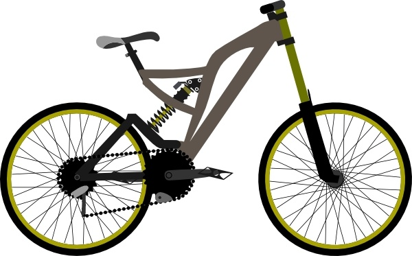 600x373 Mountain Bike Clip Art Free Vector In Open Office Drawing Svg