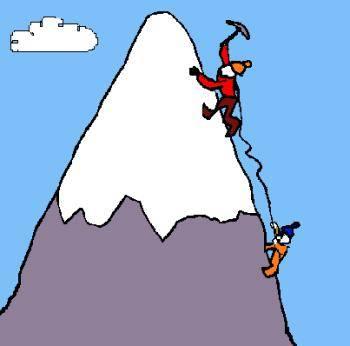 350x346 Person Climbing A Mountain Clipart