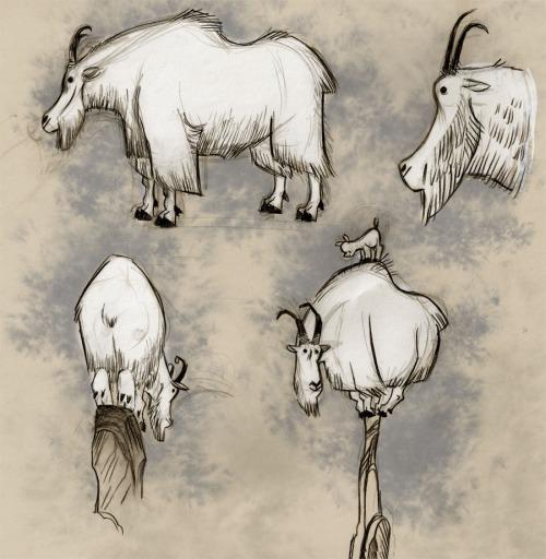 500x512 Felt Like Drawing Mountain Goats. Art