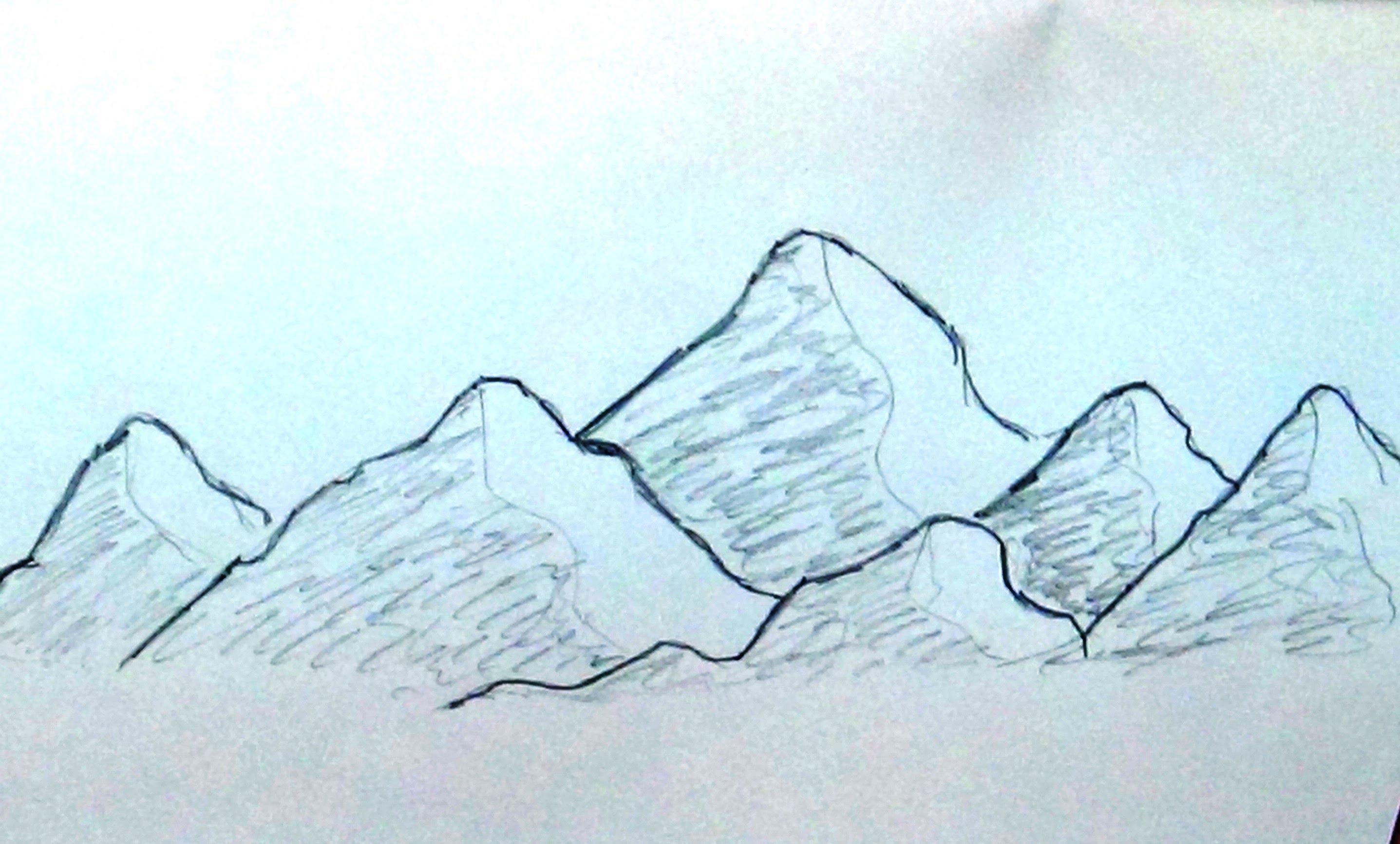 2874x1733 Draw Mountain Scene Easy Mountain Landscape Drawing Mountain Scene