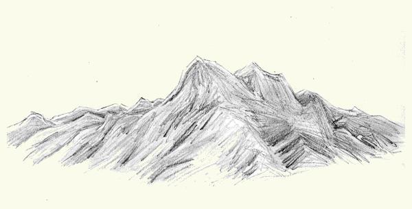 600x305 Mountain Drawings