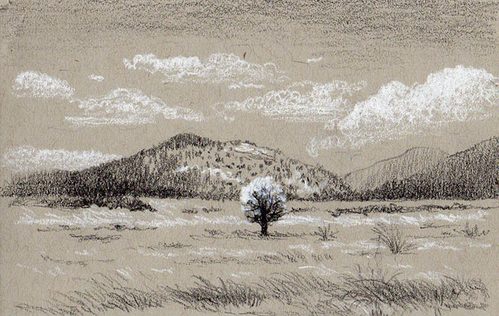 710x449 Gallery Sketches Of Mountain Landscapes,