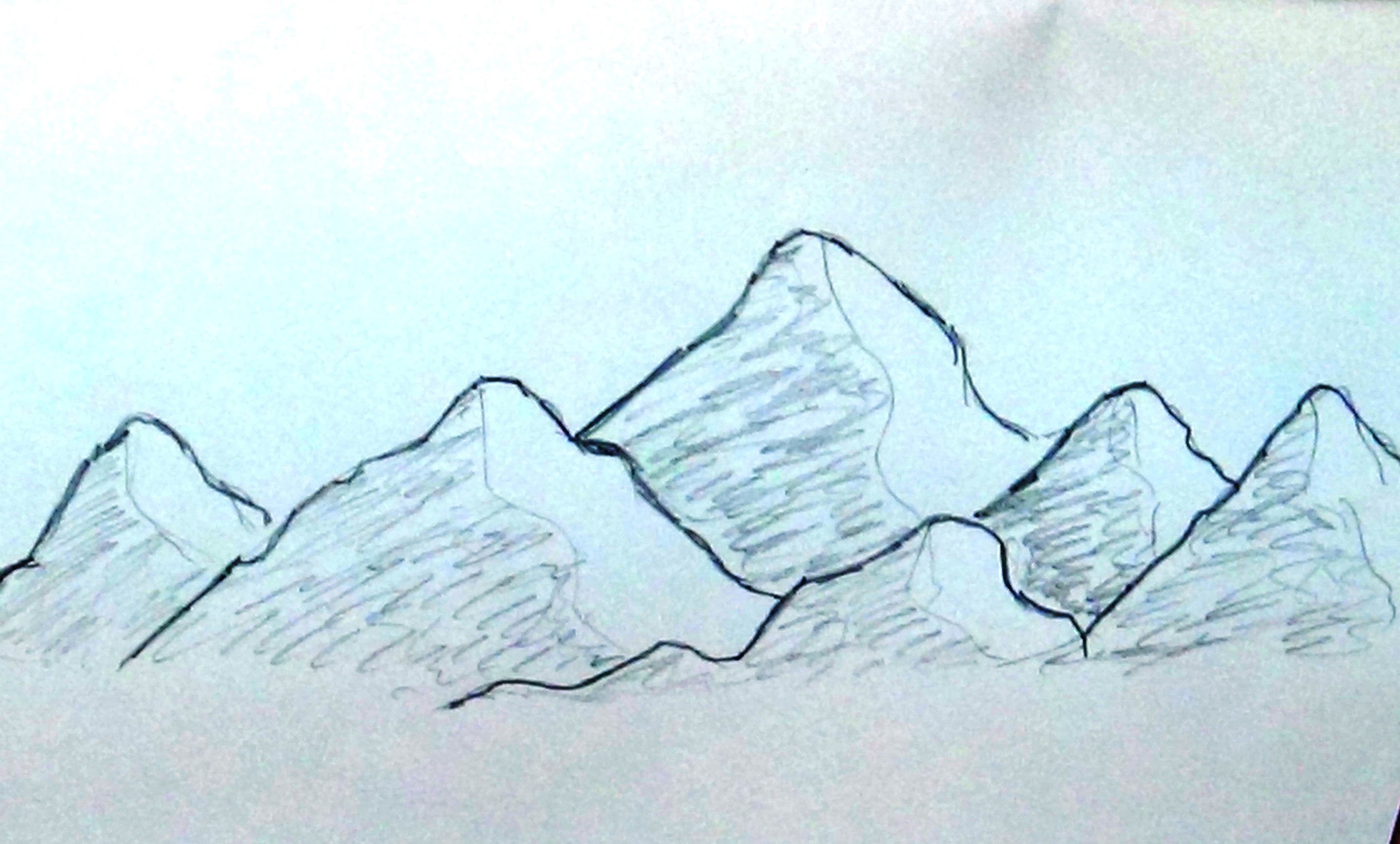 Mountain Range Drawing at GetDrawings.com | Free for personal use ...
