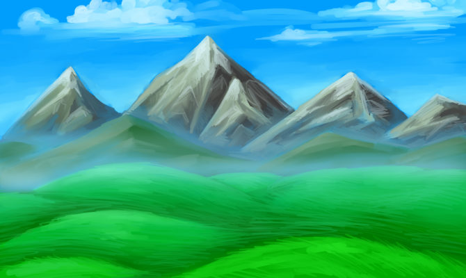 670x400 18 Dream Simple Mountain Drawings Photo