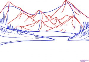 300x210 Easy To Draw Mountains