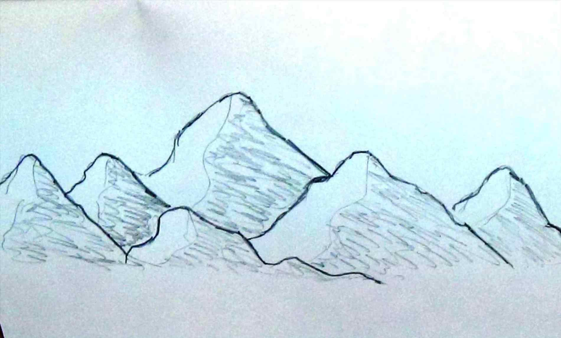 1900x1145 Easy To Draw Mountains Draw A Realistic Landscape Mountains Step