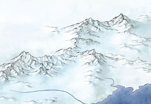 496x343 Beyond The Wall Fantasy Map, Rpg And 2d