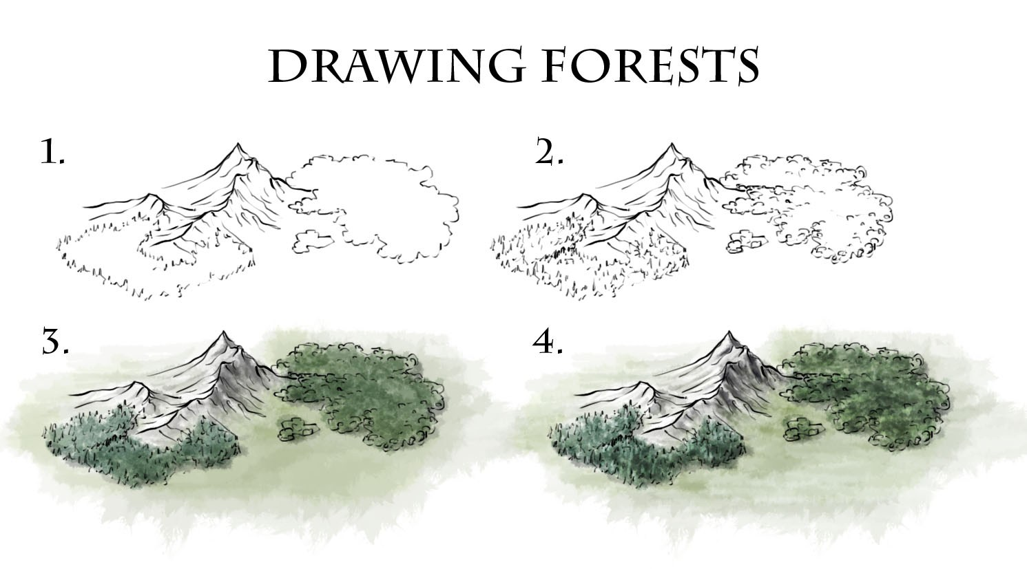 1491x827 How To Draw Forests
