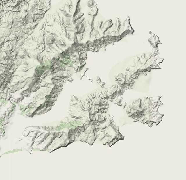 This is an image of Irresistible Drawing Mountains On A Map