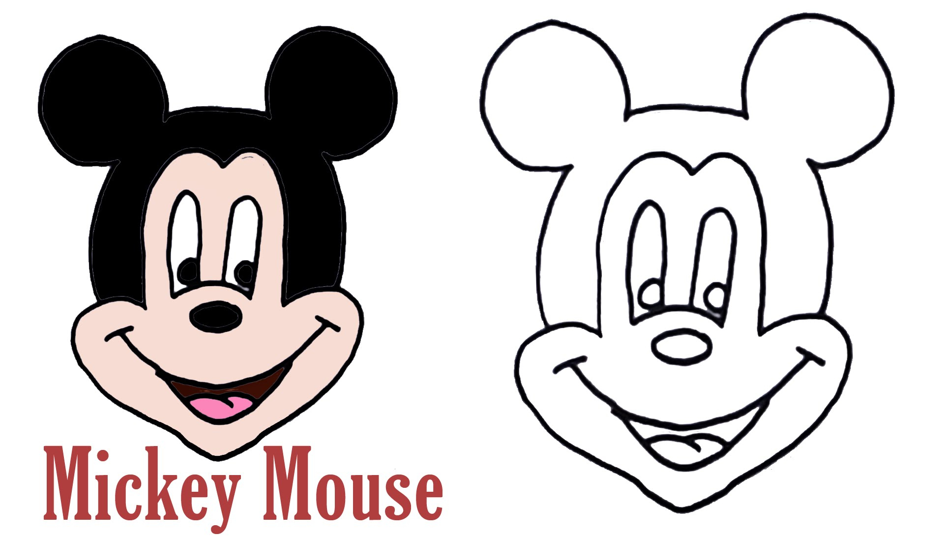 1920x1090 Cartoon Of Mickey Mouse For Draw Cartoon Drawing Mickey Mouse