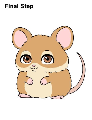 386x500 How To Draw A Mouse (Cartoon)