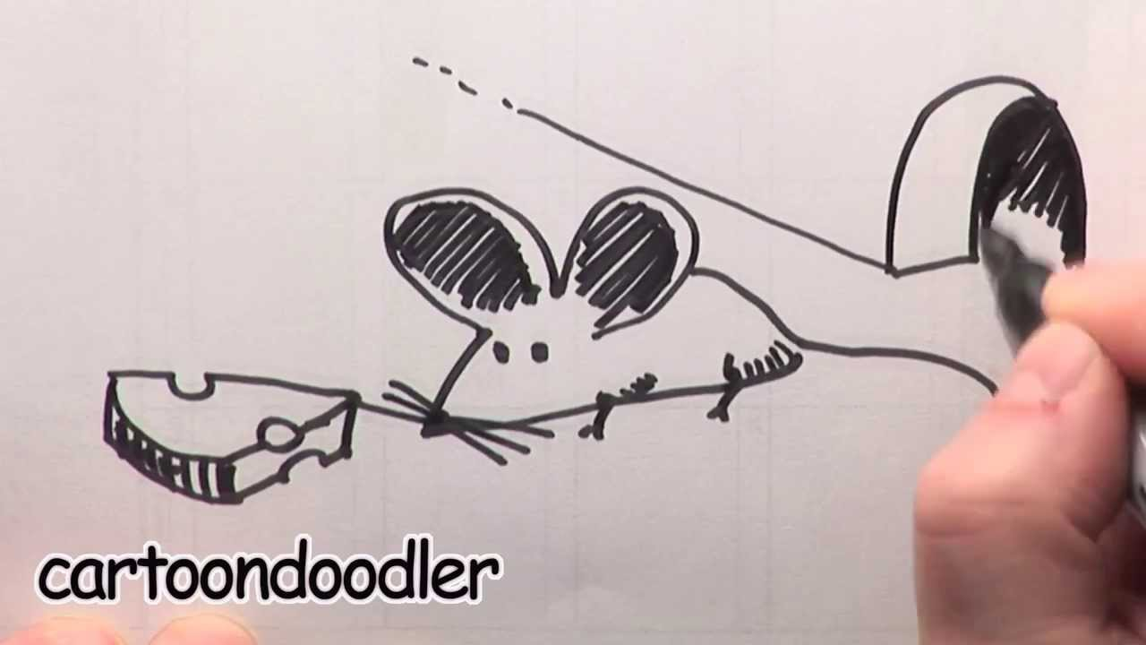 1280x720 How To Draw A Cartoon Mouse With Cheese. How To Draw An Easy