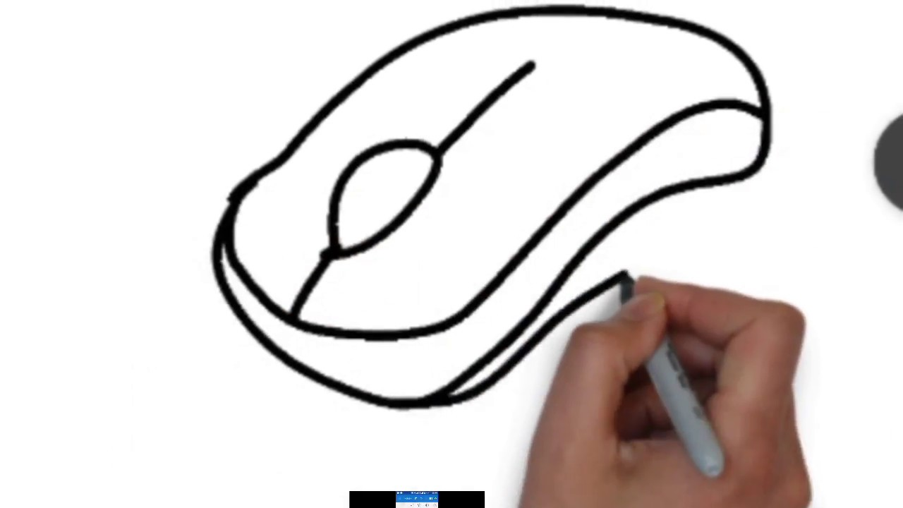 1280x720 How To Draw A Computer Mouse Step By Step All Top 10