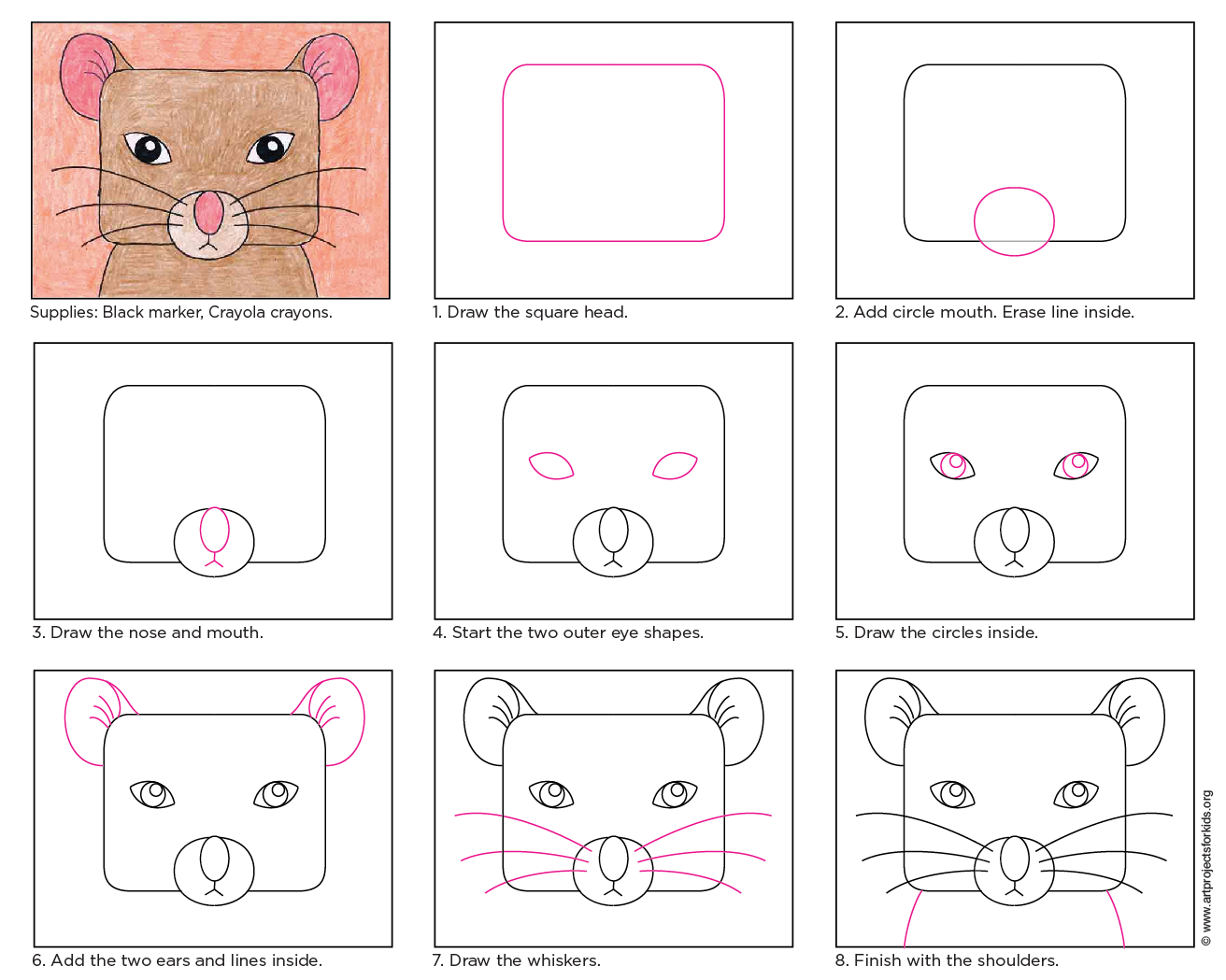 1312x1049 Draw A Mouse Face