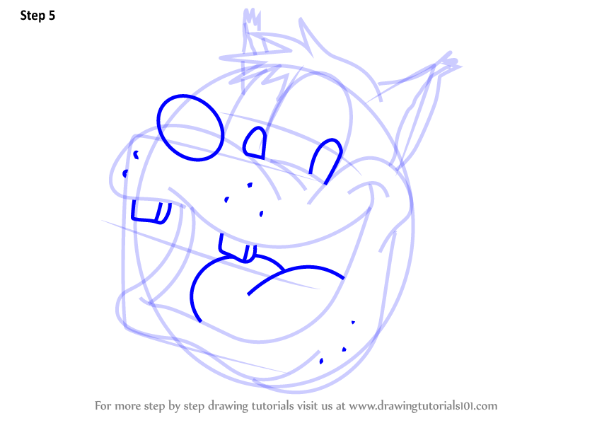844x598 Learn How To Draw Pete Face From Mickey Mouse Clubhouse (Mickey