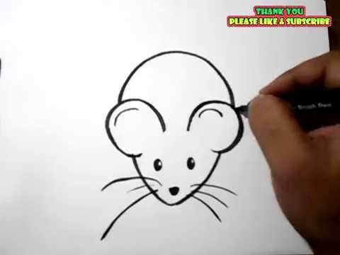 480x360 How To Draw A Rat Easy Drawing For Kids Yzarts
