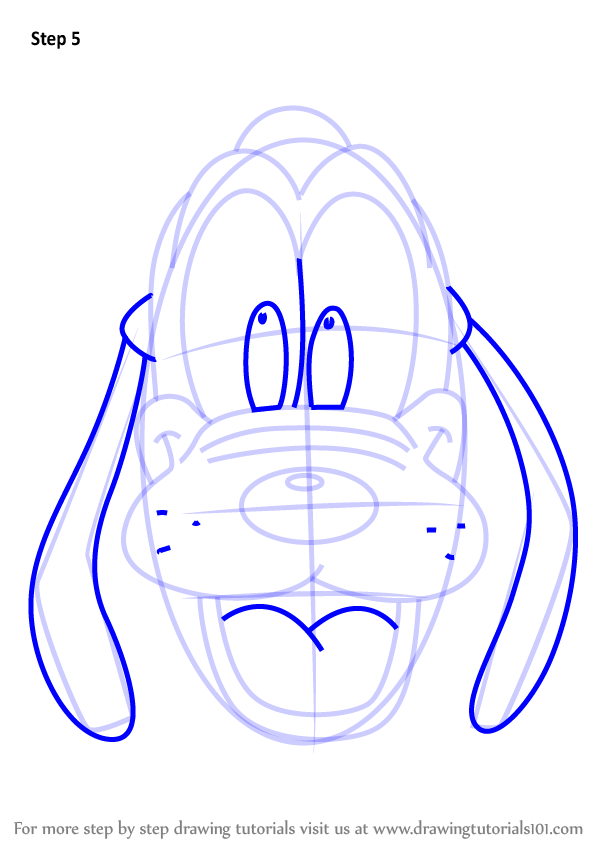 602x848 Learn How To Draw Pluto Face From Mickey Mouse Clubhouse (Mickey