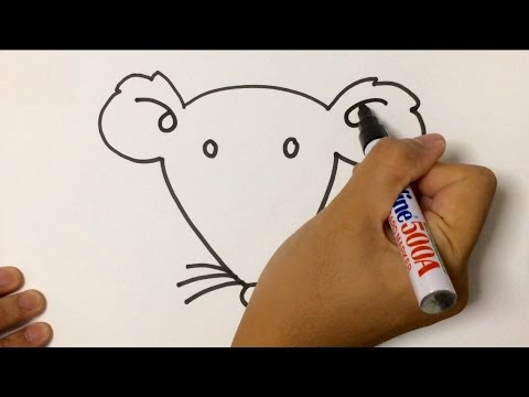 480x360 Simple Lesson How To Draw Animal Mouse Face Using Marker Pen