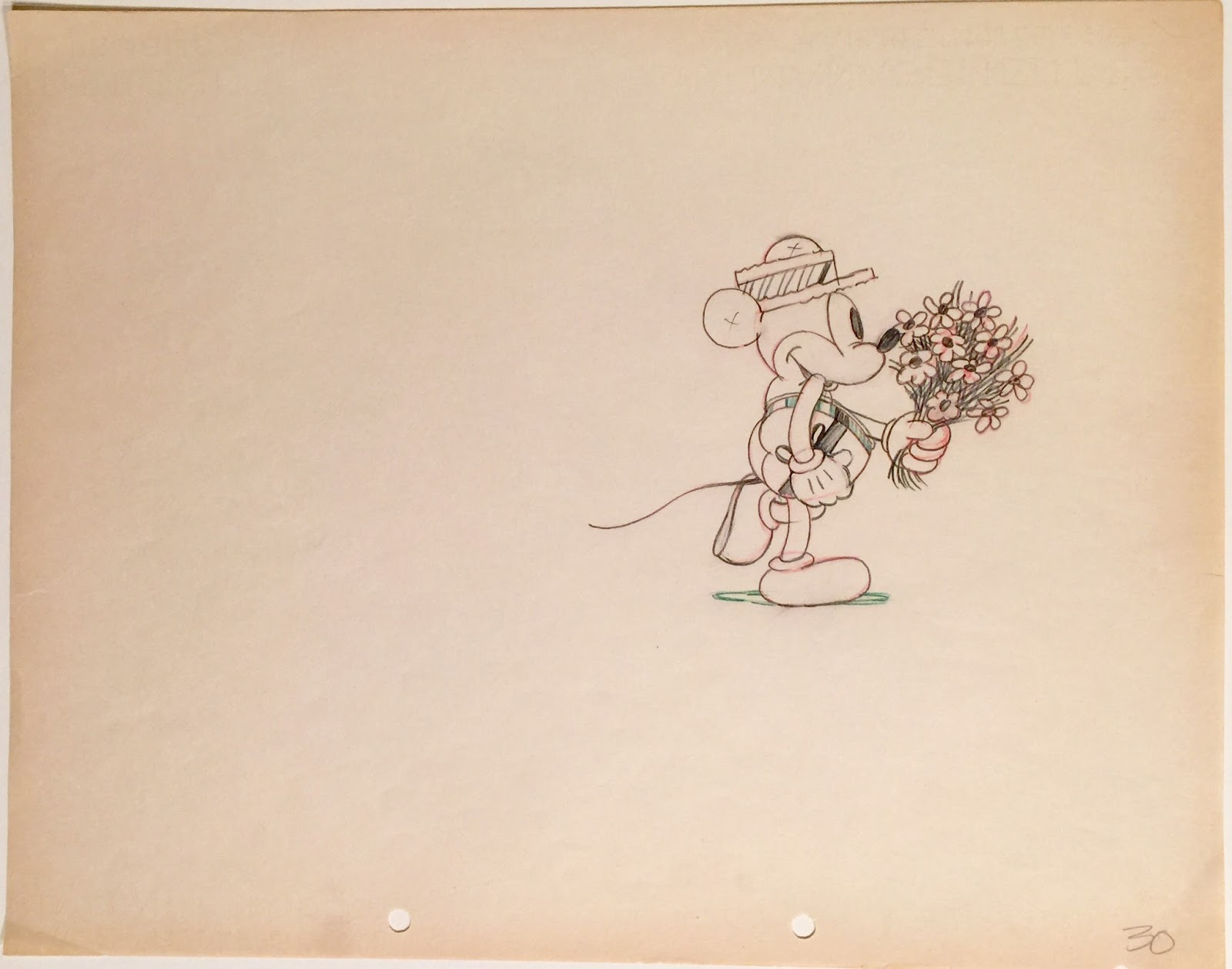 1600x1258 Animation Collection Original Production Drawing Of Mickey Mouse