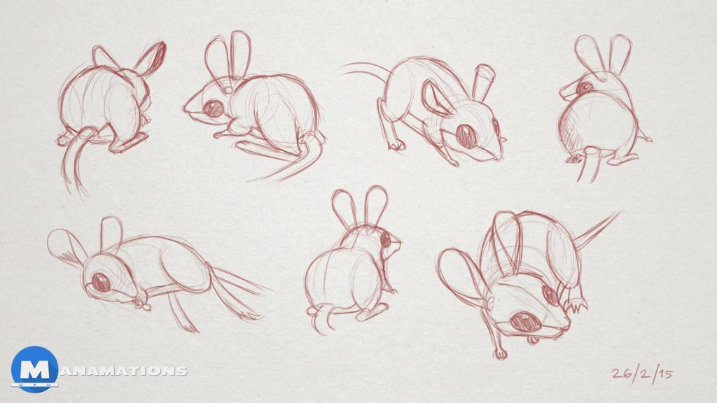 1024x576 Hopping Mouse Studies For Animation Manamations Animation Studio