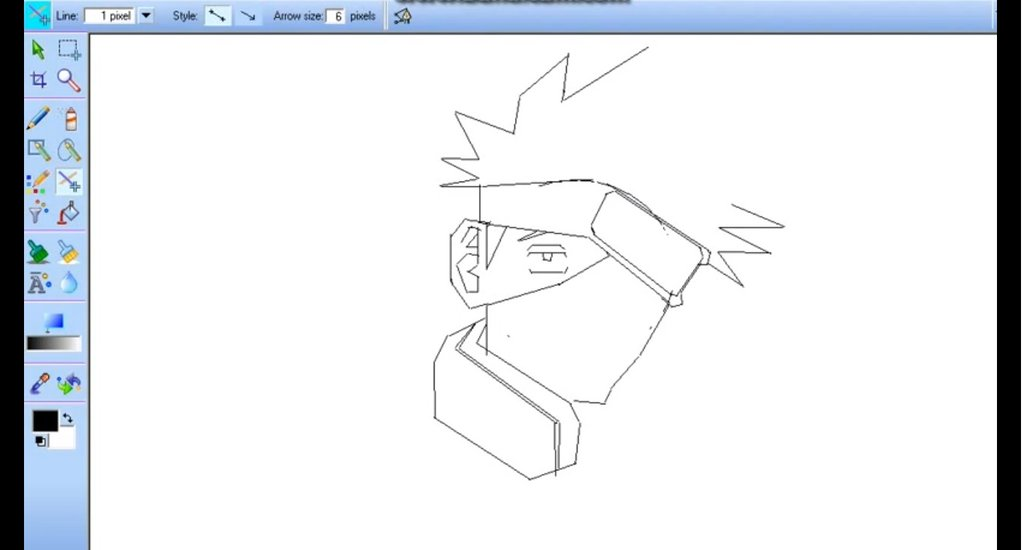 1024x550 How To Draw Kakashi Using Mouse Made Easy By Vipin3662