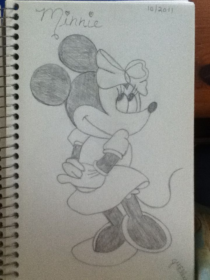 720x960 Gallery Pencil Sketch Of Minnie Mouse,