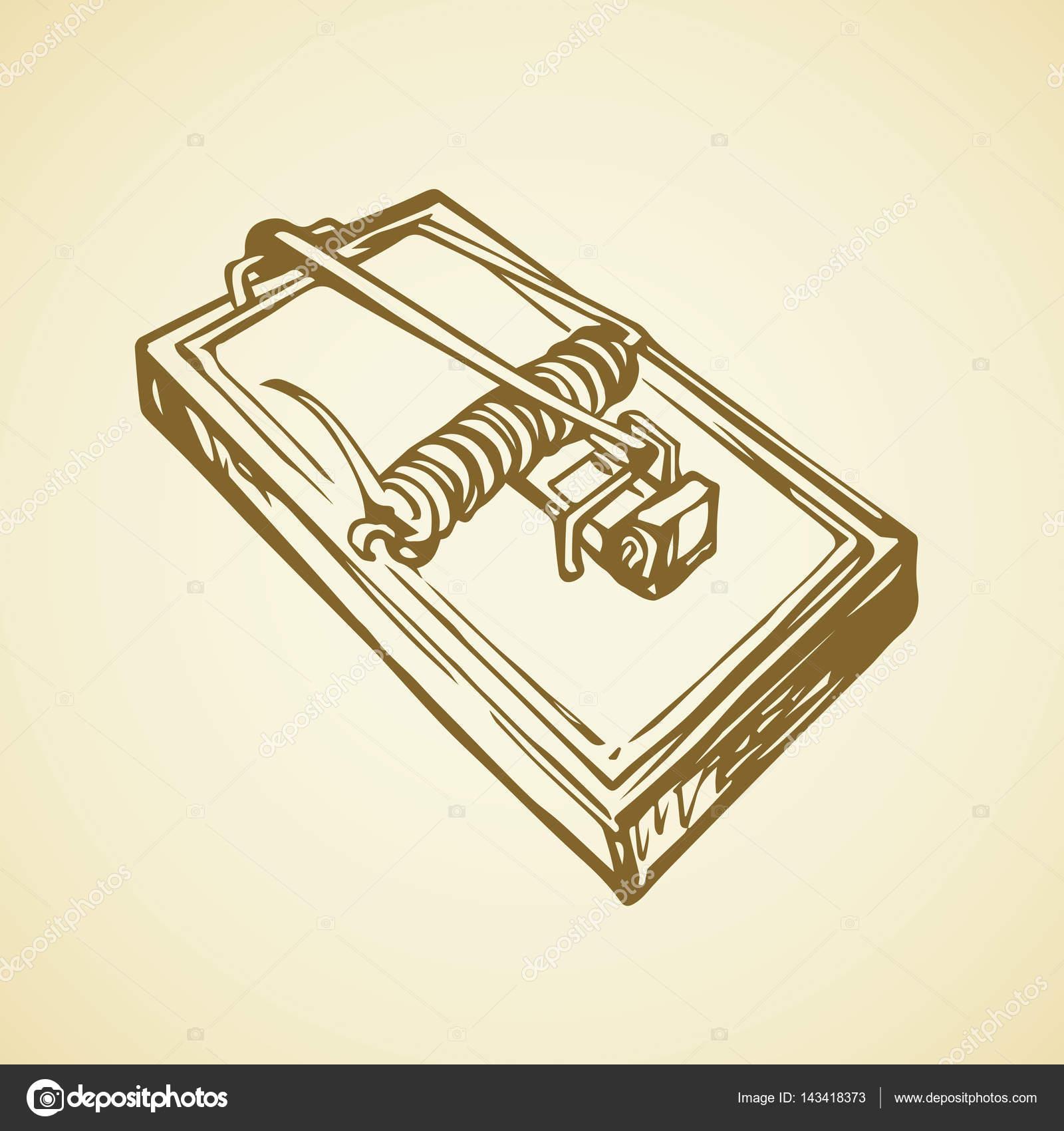 1600x1700 Vector Drawing. Mouse Trap Stock Vector Marinka