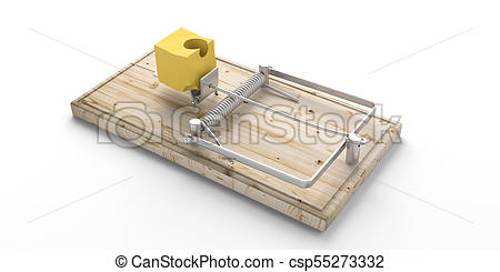 450x245 Wooden Mouse Trap, Bait Cheese, Isolated On White Drawings