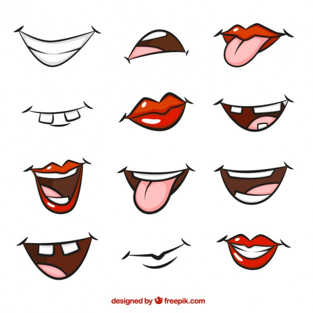 626x626 Cartoon Mouths Vector Free Download