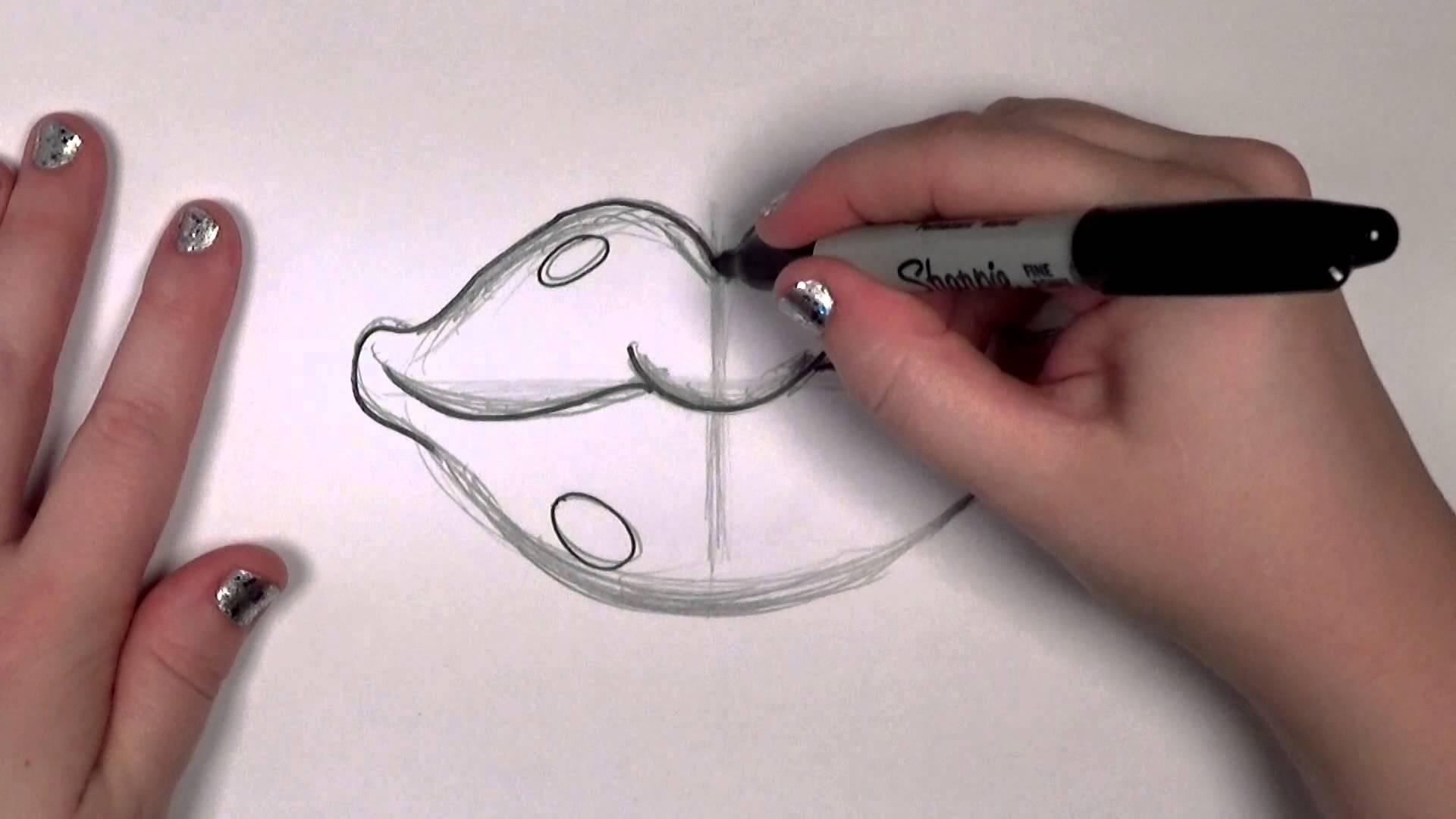 1920x1080 How To Draw Red Cartoon Lips Cc