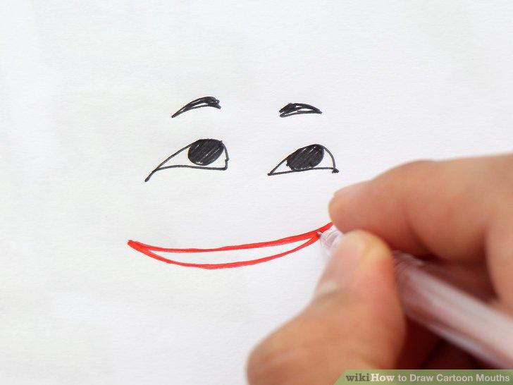728x546 4 Ways To Draw Cartoon Mouths