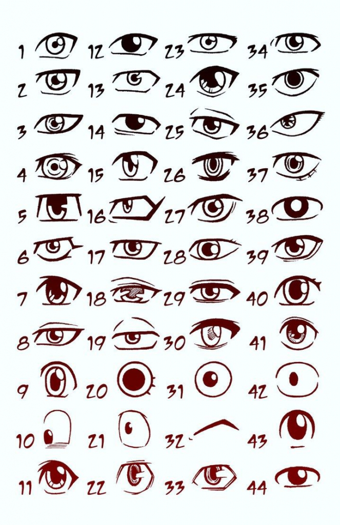 663x1024 Drawing Cartoon Eyes