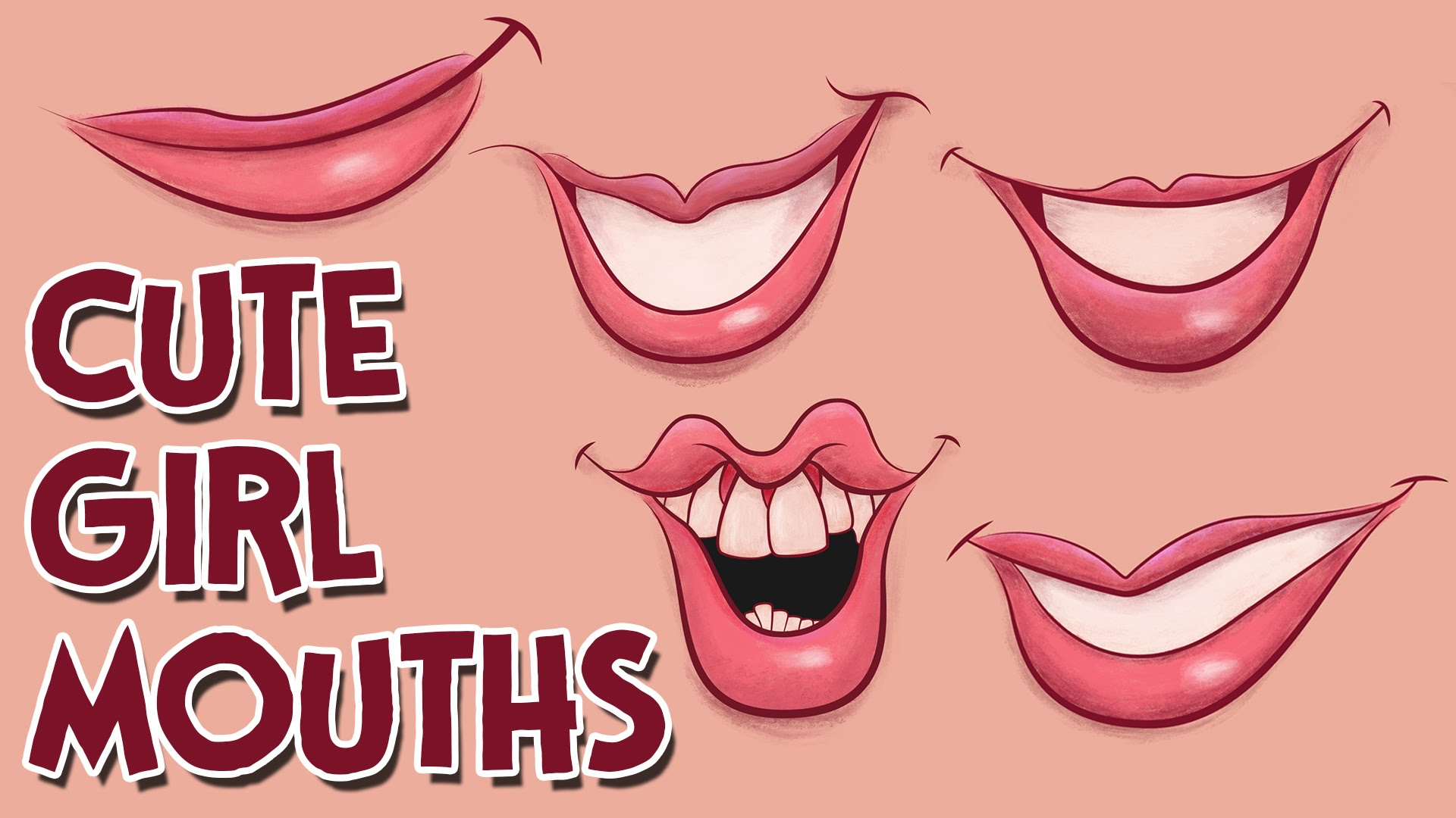 1920x1080 How To Draw Cute Girl Cartoon Mouths Come Disegnare