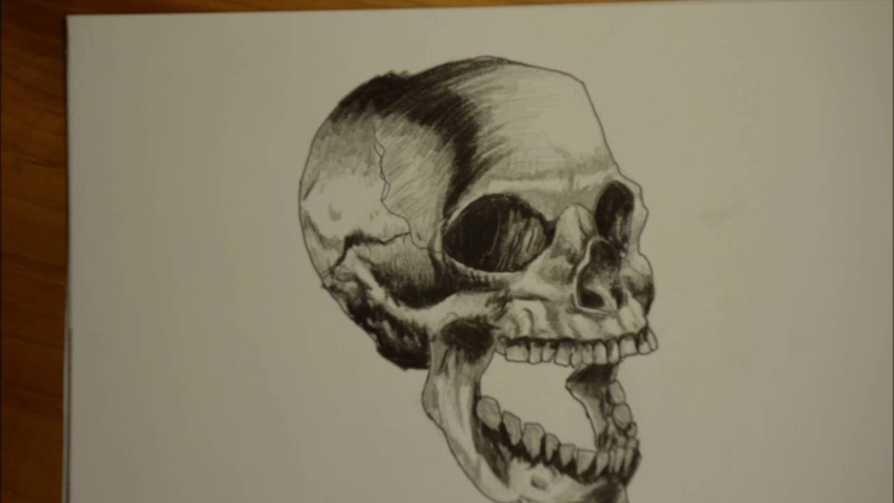 1280x720 How To Draw Open Mouth Skull
