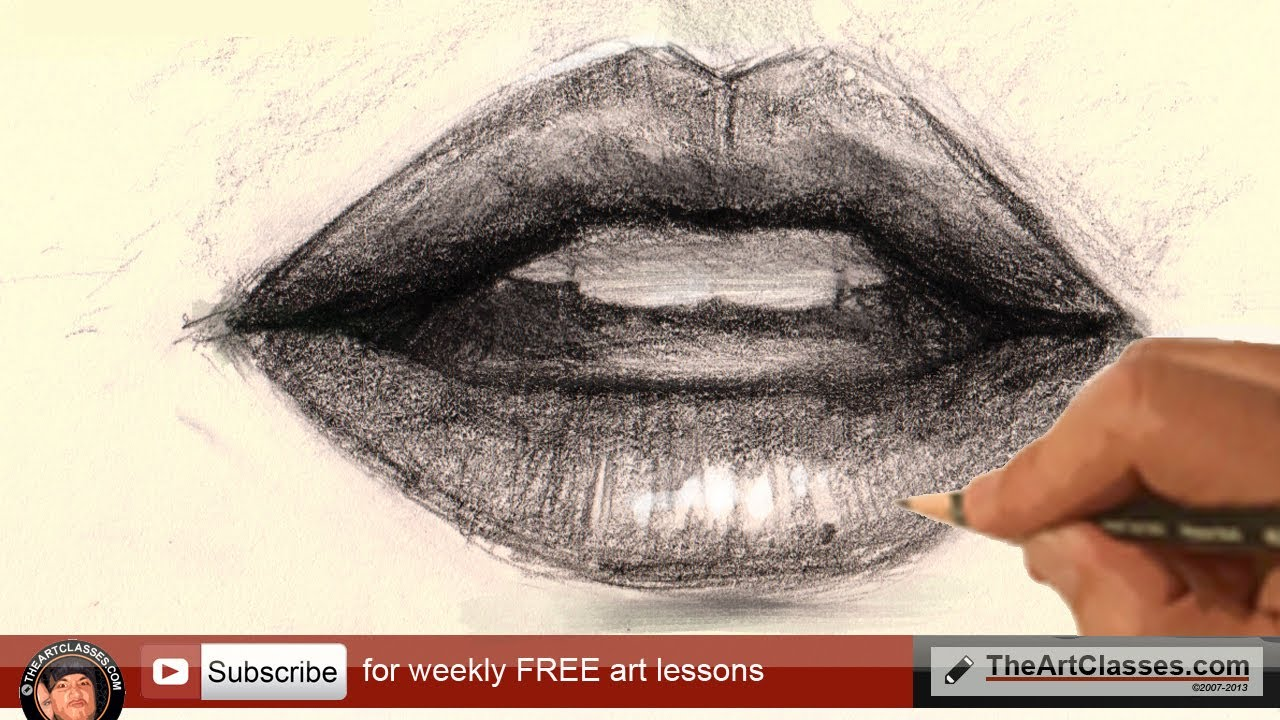1280x720 How To Draw Mouth Lips For Realistic Portrait