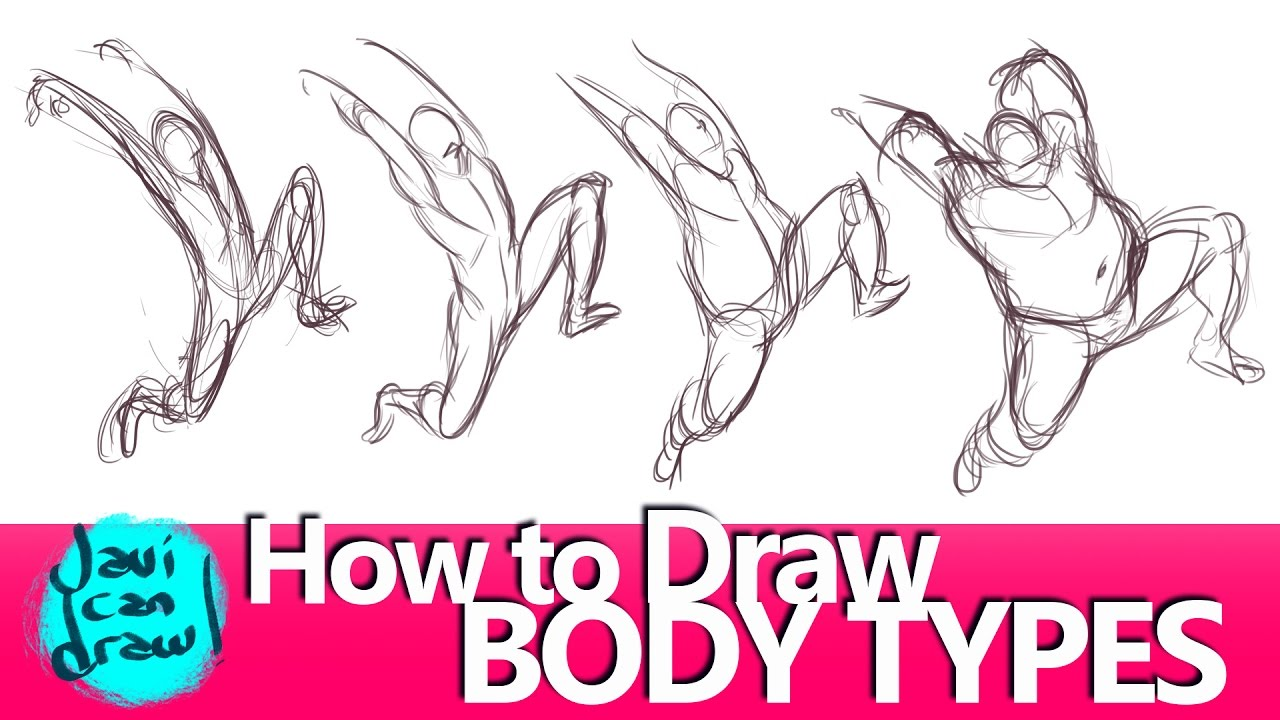 1280x720 How To Draw Movement With Different Body Shapes