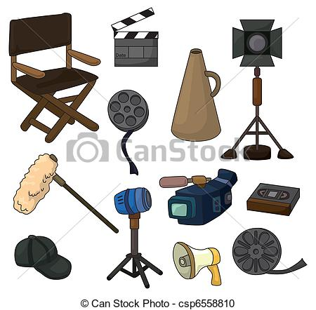 450x442 Cartoon Movie Equipment Icon Set Vector Clipart