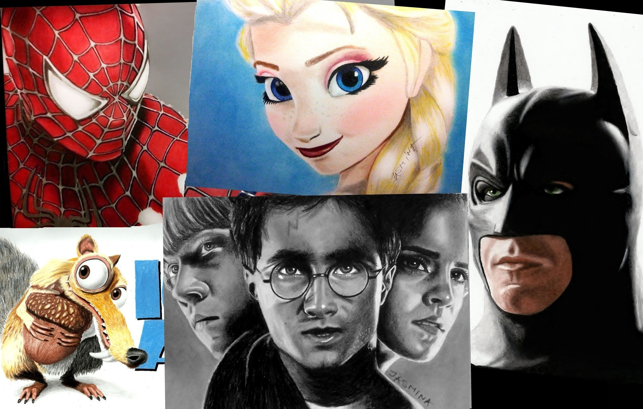 2200x1400 Speed Drawing Of Movie Characters
