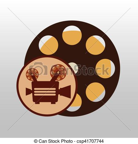 450x470 Camera Movie Vintage Film Reel Icon Design Vector Eps Vector