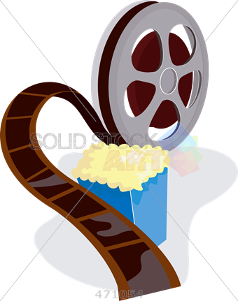 340x431 Stock Illustration Of Retro Cartoon Drawing Of Movie Reel