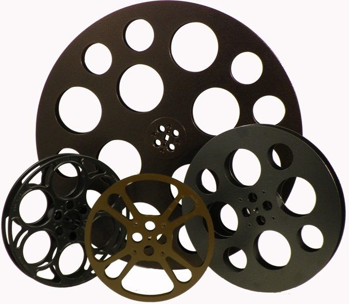 682x594 Theatre Set Rustic Set Of 4 Film Reels