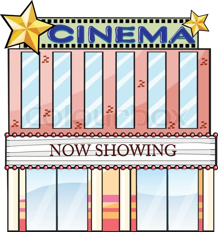 751x800 A Cinema Theater Building Stock Vector Colourbox