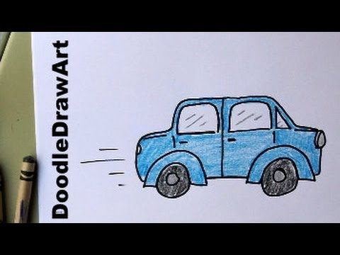 480x360 How To Draw A Car For Kids! Learn To Draw This Car, Easy, Step By