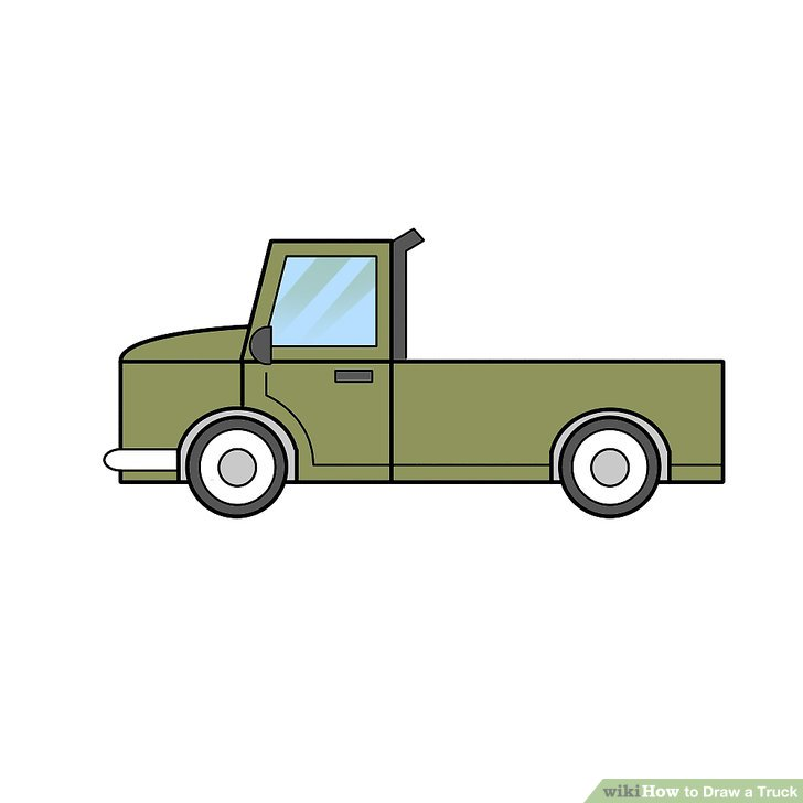 728x728 2 Easy Ways To Draw A Truck (With Pictures)