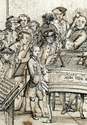 284x406 Does 18th Century Orchestral Drawing Depict Mozart Article