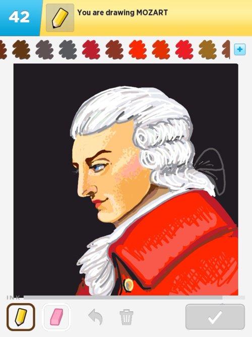 500x667 Mozart Drawings