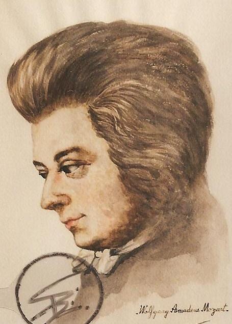 455x636 Portrait Of Wolfgang Amadeus Mozart By Poupeeportrait On Stars